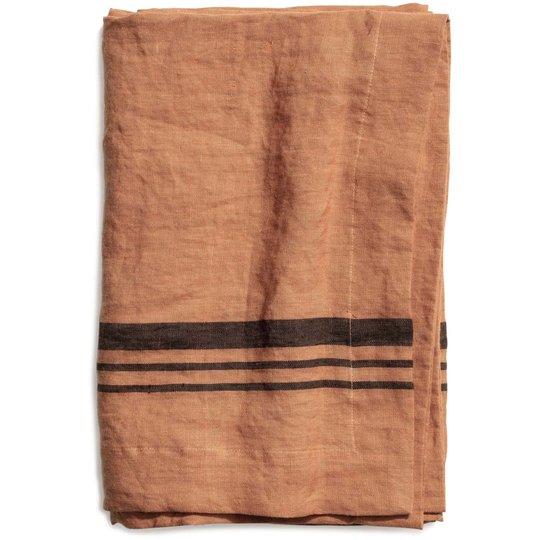 Top Drawer Duk LIMRICK i linné, stripe, Dry Terracotta