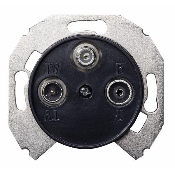 Schneider Electric WDE011748 Antennipistorasia sisältää keskiölevyn 2 dB, musta