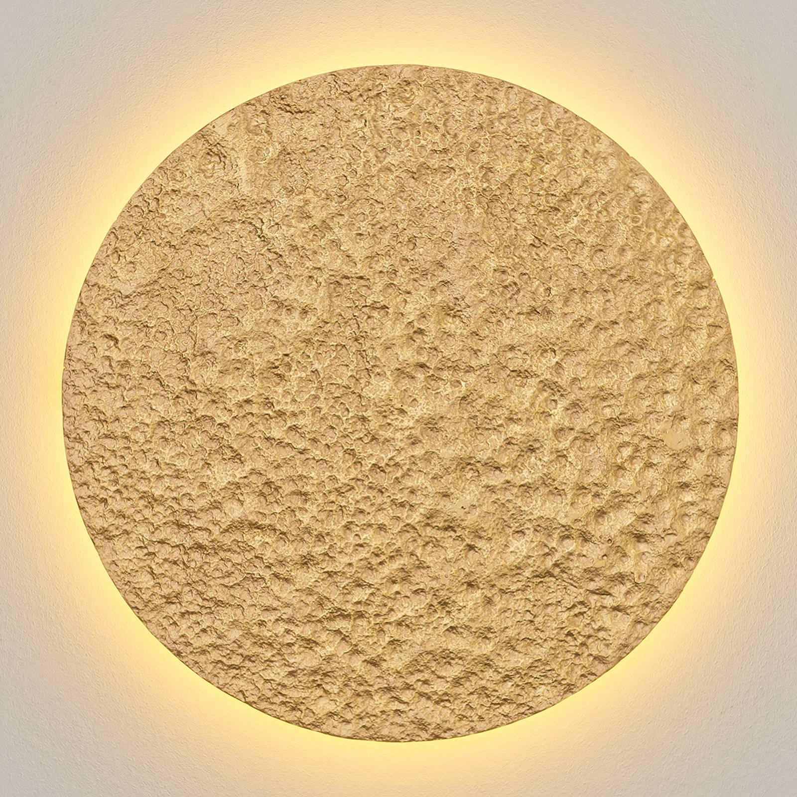 Meteor-LED-seinävalaisin, Ø 55 cm, kulta
