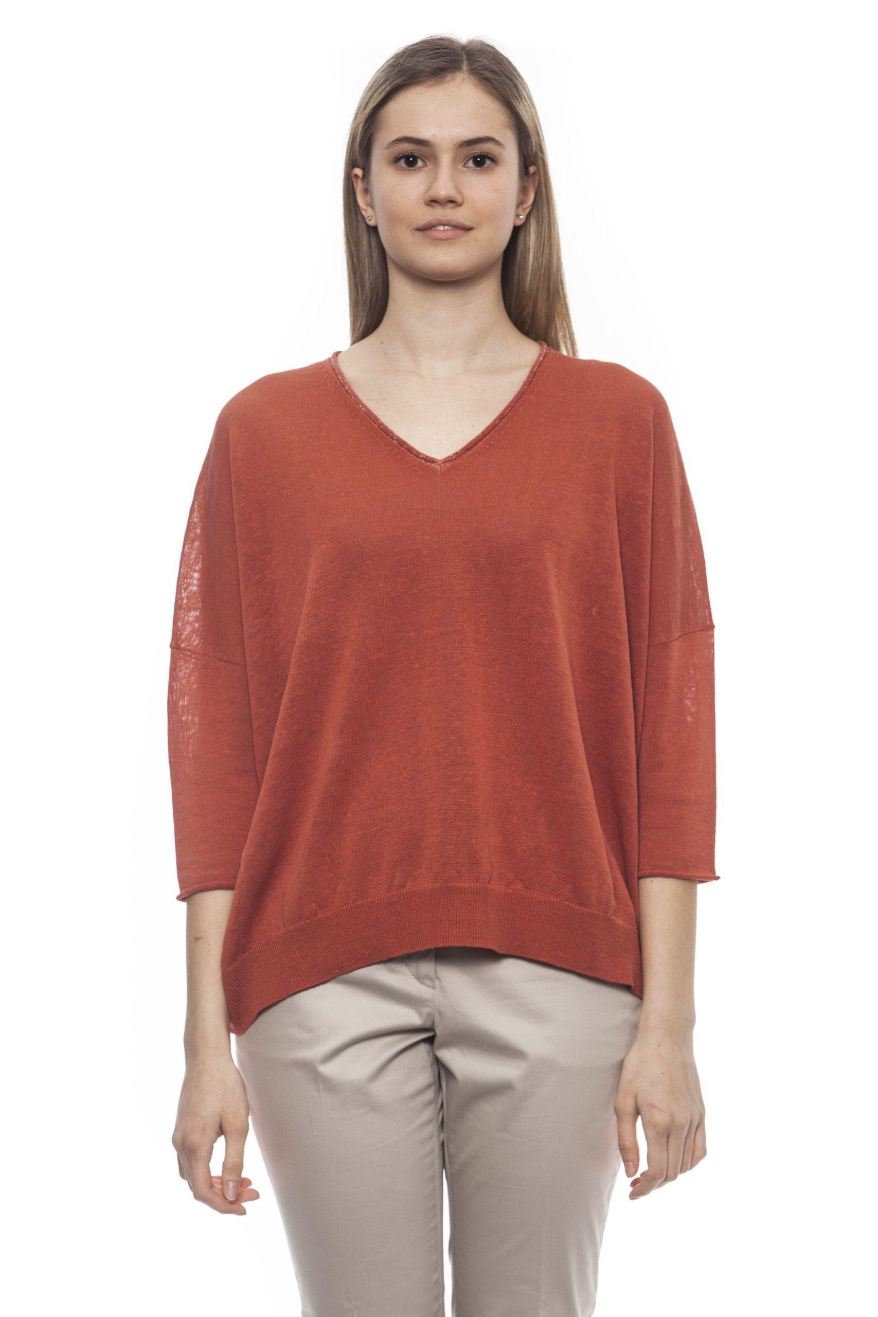 Peserico Women's S Marrone Sweater Brown PE1383124 - IT42 | S