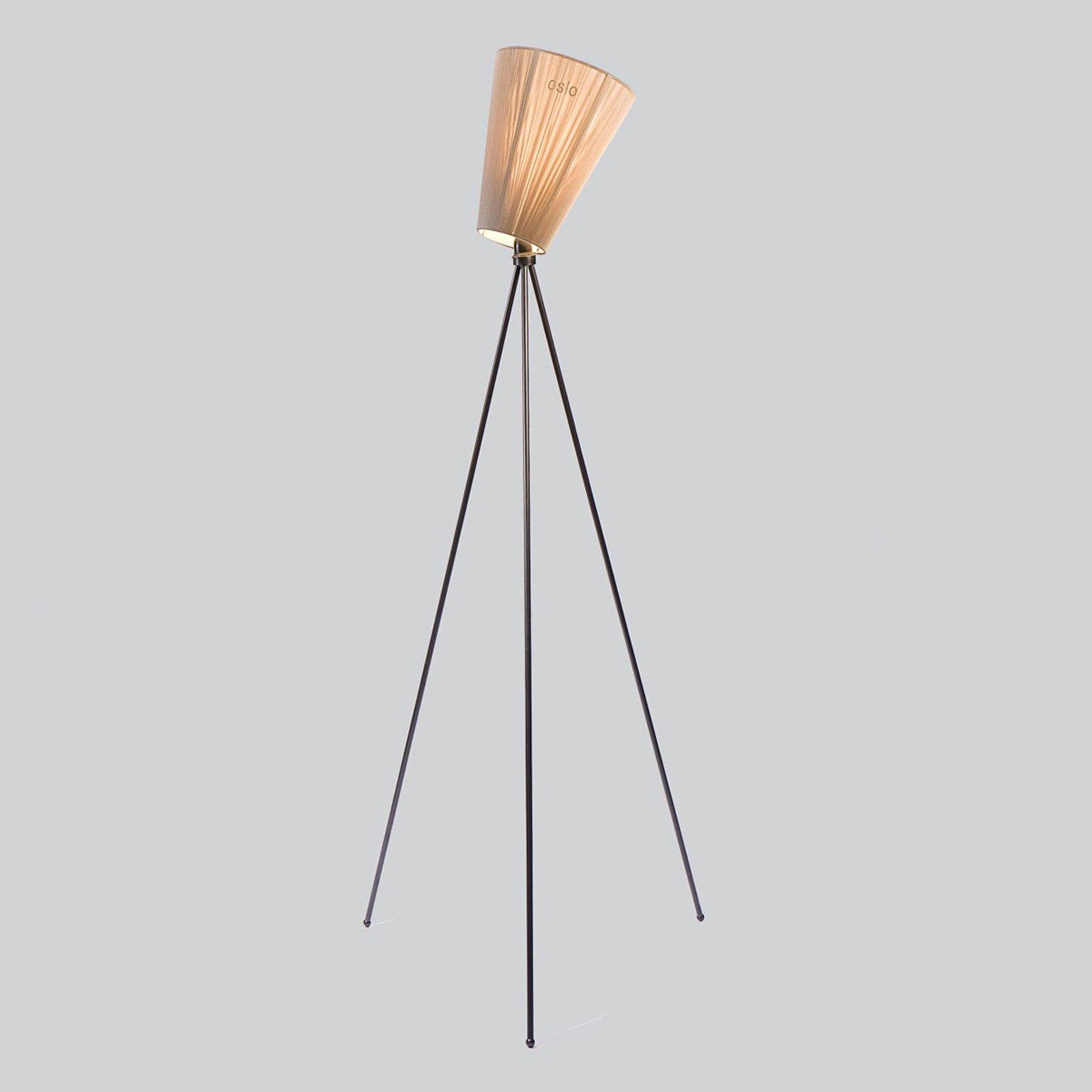 Northern Oslo Wood gulvlampe, svart/beige