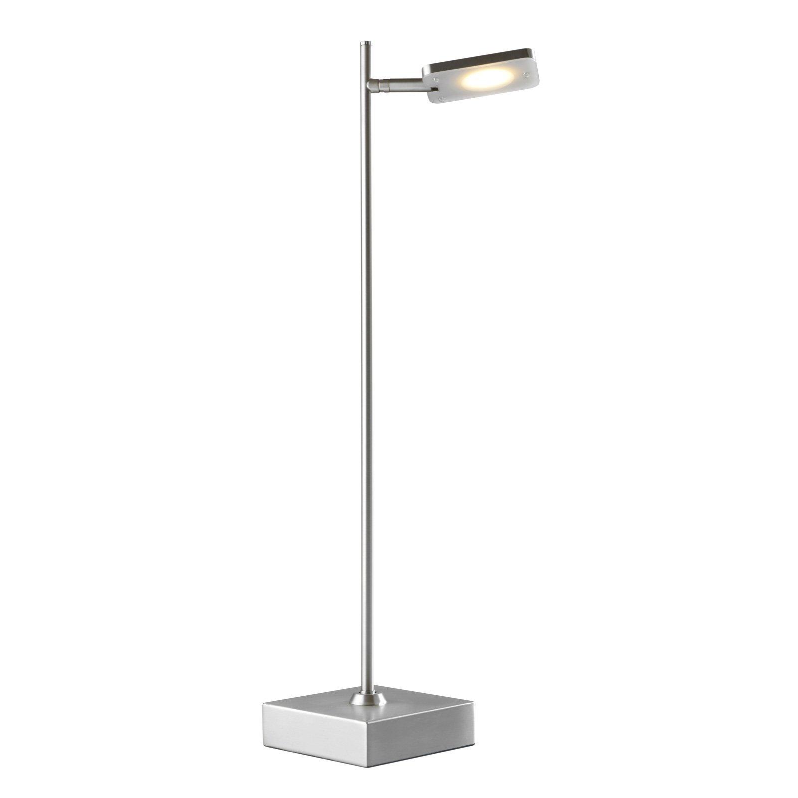 LED-bordlampe Quad, dimmer, 1 lyskilde, aluminium