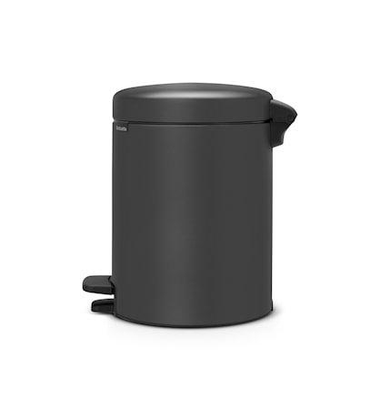 Søppelbøtte med innvendig plastbøtte Grå 5 L