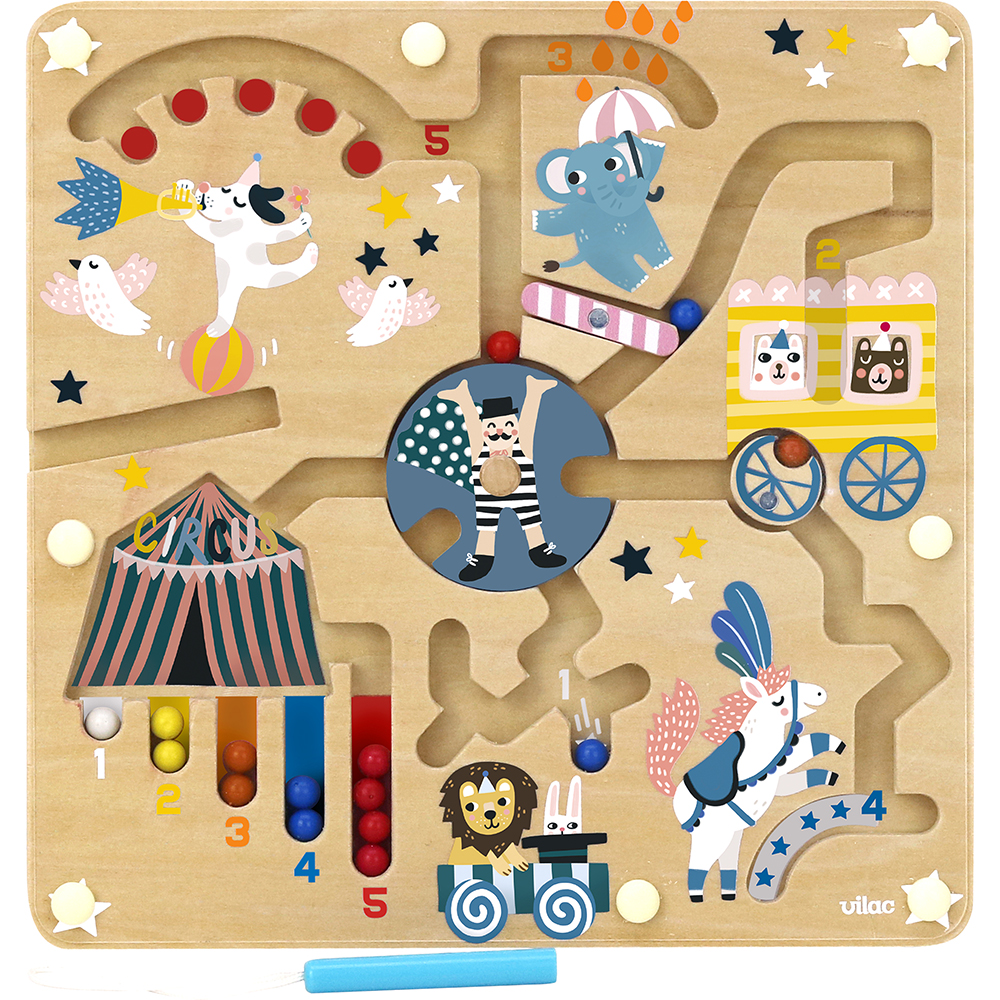 Vilac - Activity Circus - Magnetic Maze by Michelle Carlslund (8522)