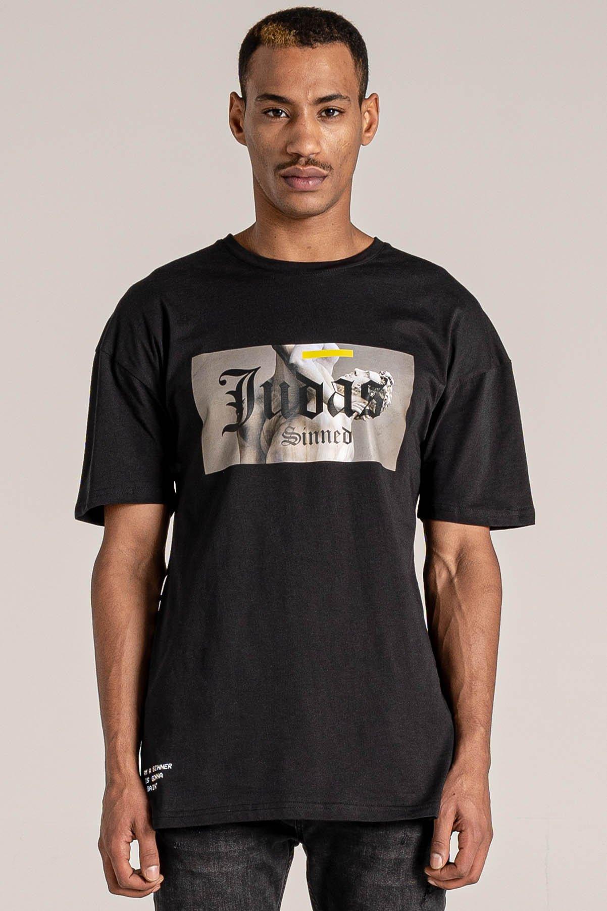 Lift Printed Men's T-Shirt - Black, Small