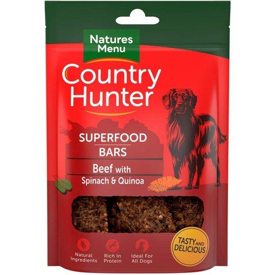 NaturesMenu Country Hunter Superfood Bar Biff 100 g