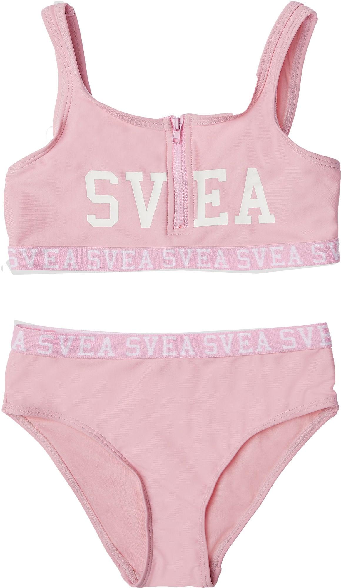 Svea Sportig Bikini Med Dragkedja, Pink, 110