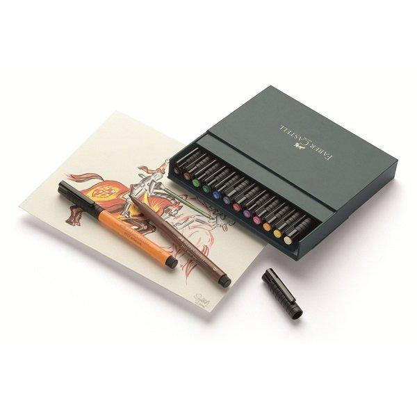 Faber-Castell - PITT artist pen B studio box of 12 (167146)