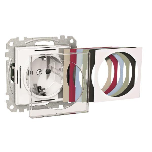 Schneider Electric Exxact WDE004493 Vekkuttak 1-veis, jordet, transparent, 16 A