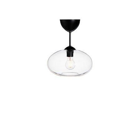 Bullo Plafond Mattsvart Klart Glass 32 cm