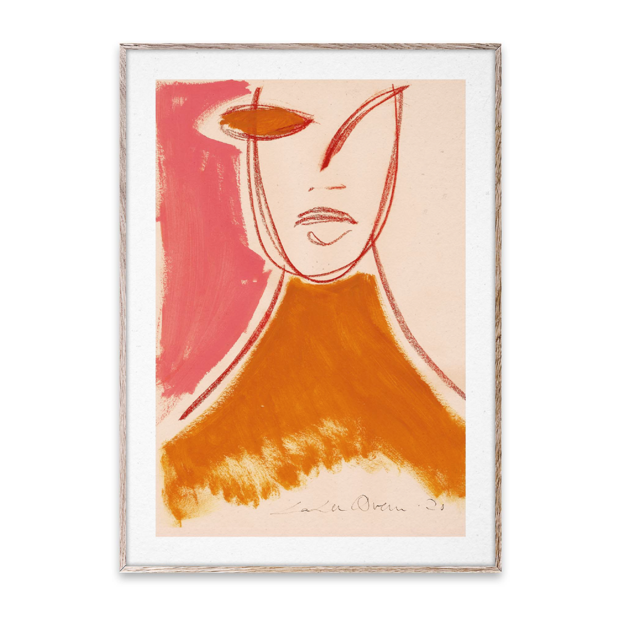 Paper Collective Poster Pink Portrait 50x70 cm