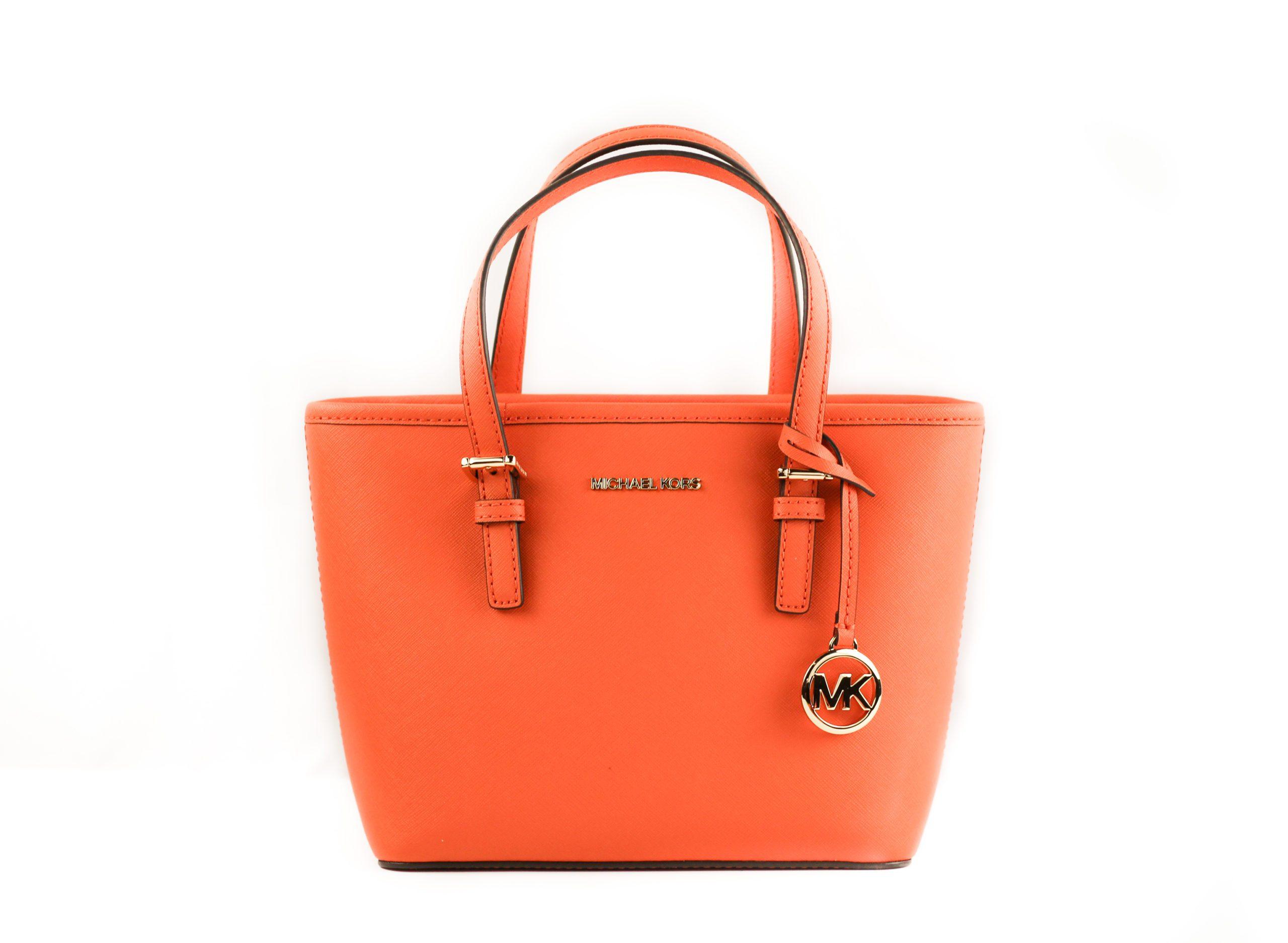 Michael Kors Women's Jet Set Tote Bag Orange 59531