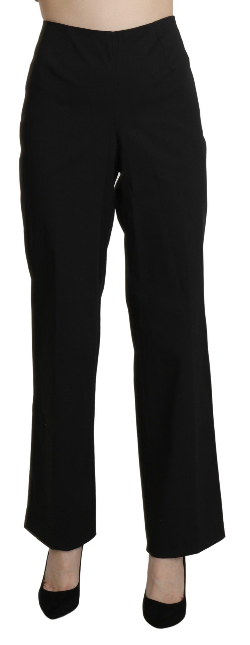 BENCIVENGA Women's High Waist Straight Trouser Black PAN71324-46 - IT46|XL