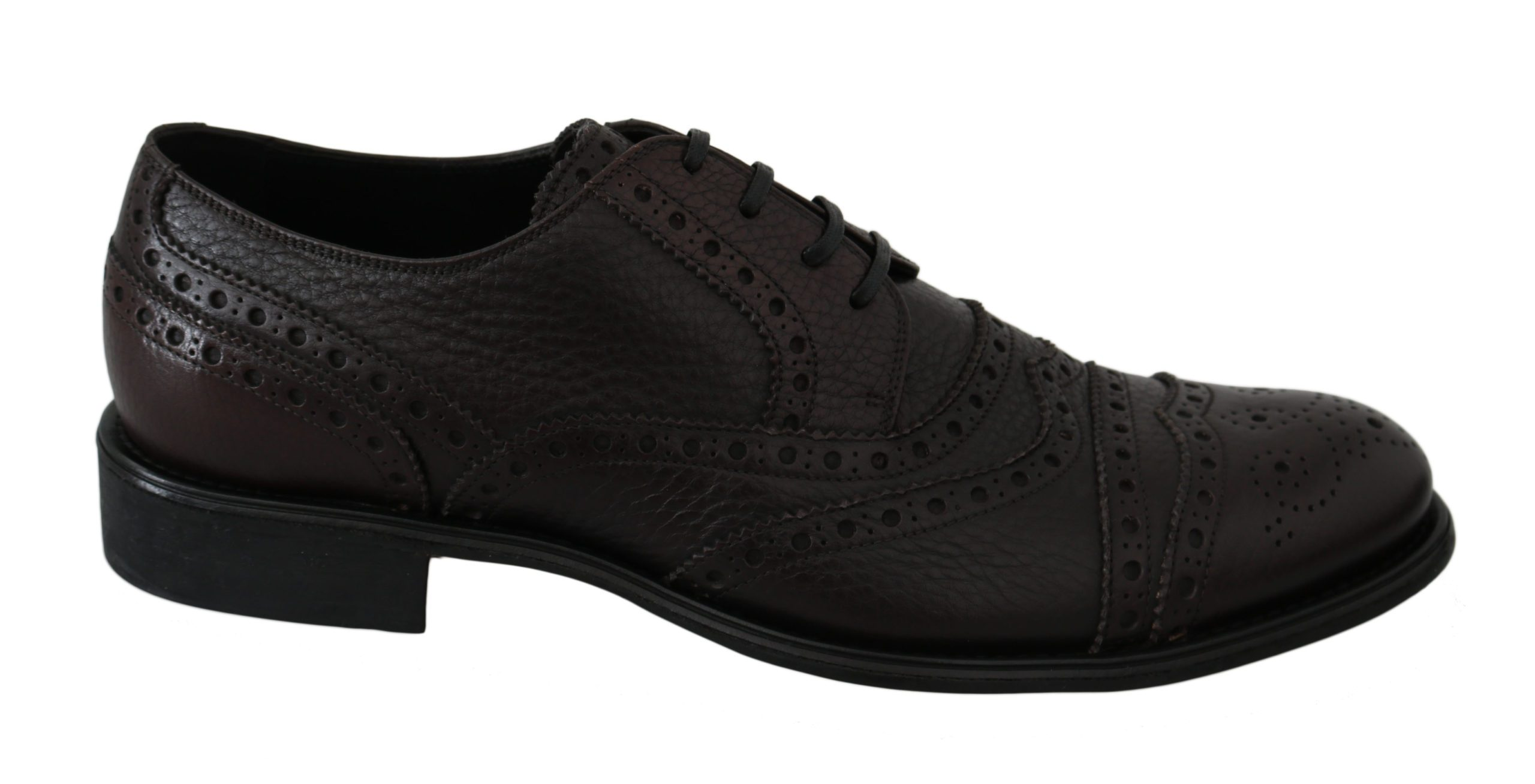 Dolce & Gabbana Men's Leather Dress Brogue Shoes Black MV2542 - EU39/US6
