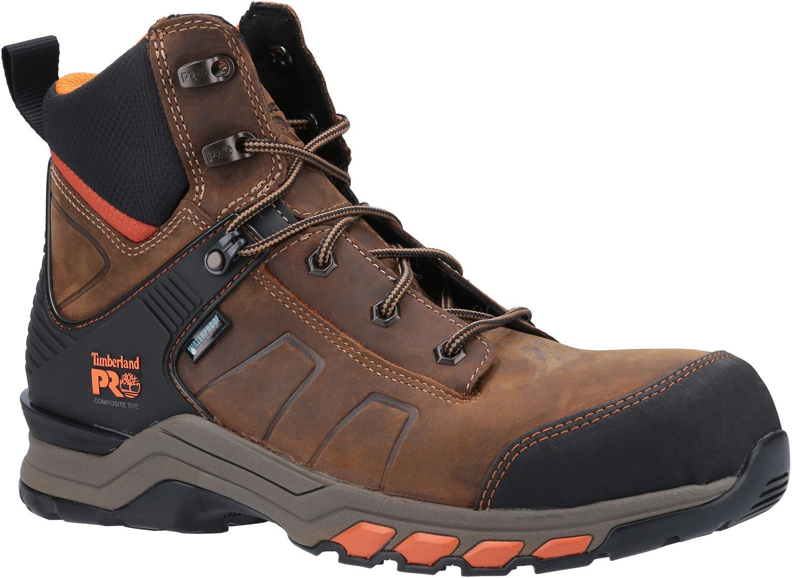 Timberland Pro Men's Hypercharge Safety Toe Work Boot Various Colours 30948 - Brown/Orange 10.5