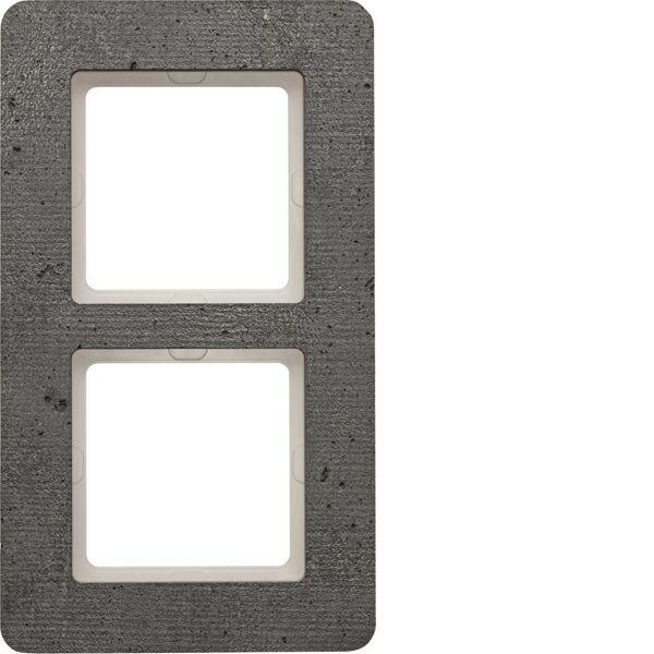 Hager 10126020 Peitekehys Berker Q.7 -rasialle, betoni 2-paikkainen