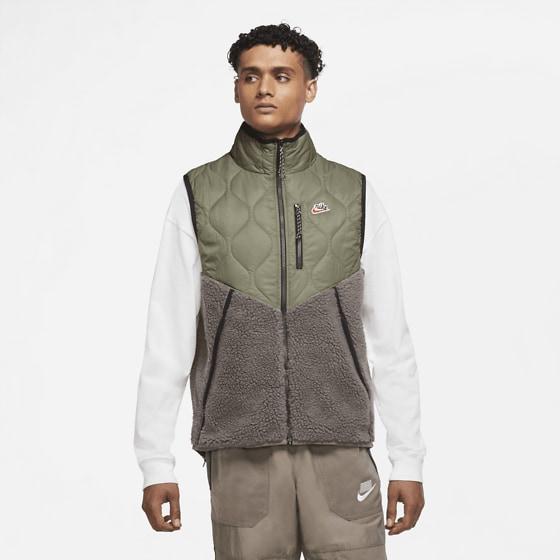 Nike M Nsw He Vest Insl Winter Jackor MYSTIC STONE/OLIVE