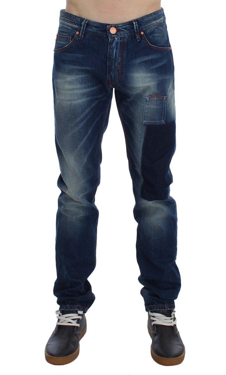 ACHT Men's Denim Straight Fit Jeans Blue SIG30497 - W34