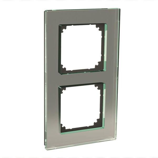 Schneider Electric Exxact Solid Kombinasjonsramme glass, titan 2 rom