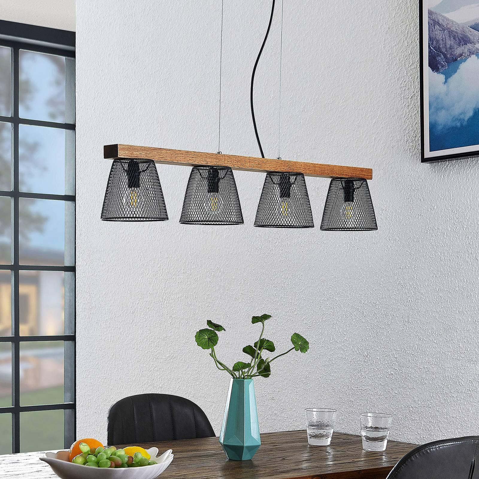 Lindby Gordiana -riippuvalaisin, 4-lamppuinen