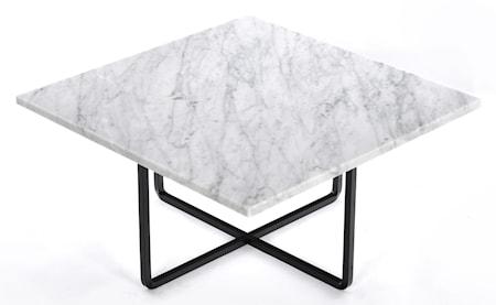 Ninety soffbord - Carrara/svartlackerad metallstomme
