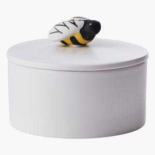 Bumblebee ceramic box, White