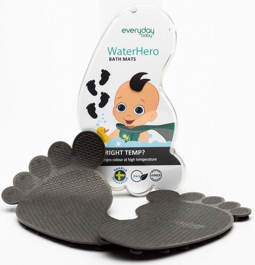 Everyday Baby Badematter Varmeind 4-Pack, Grå