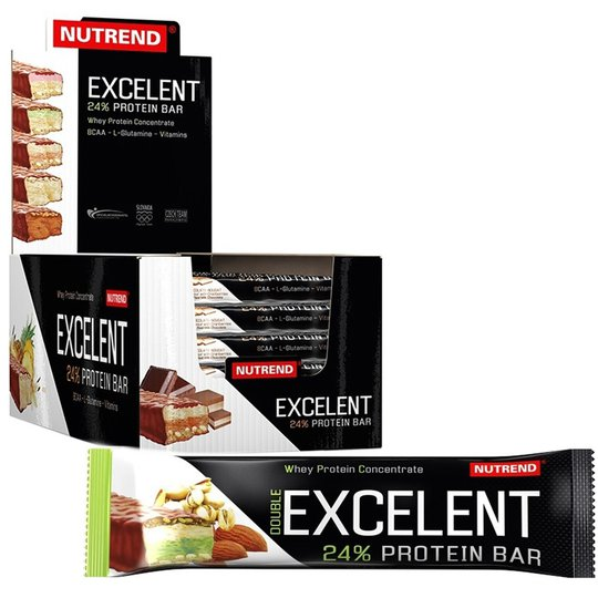 "Hel Låda Proteinbars ""Almond & Pistachio"" 18 x 85g - 57% rabatt"