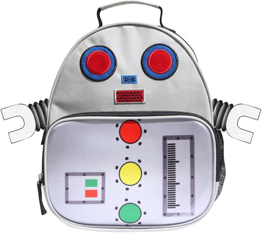 KID Zoo Robot Ryggsekk, White