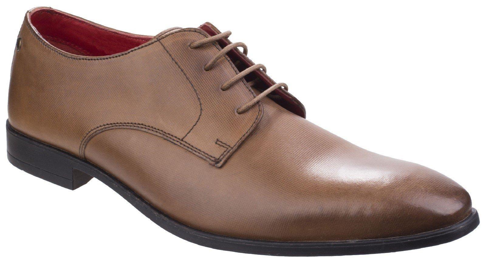 Base London Men's Shilling Waxy Derby Shoe Various Colours 26551 - Tan 6