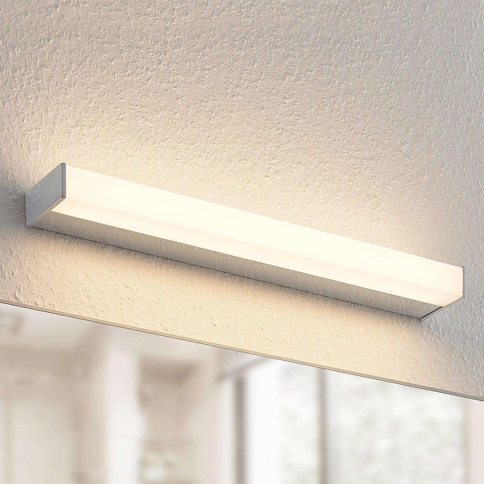 Arcchio Djamal LED-vegglampe, IP44, krom, 53 cm