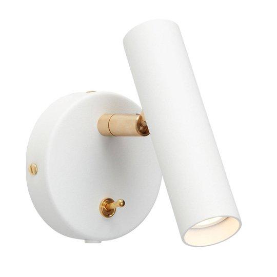 LED-vegglampe Slender, hvit