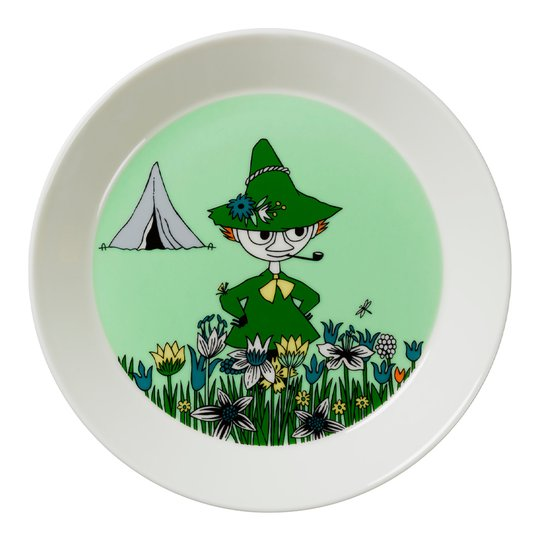 Arabia - Mumin Tallrik Snusmumriken Grön
