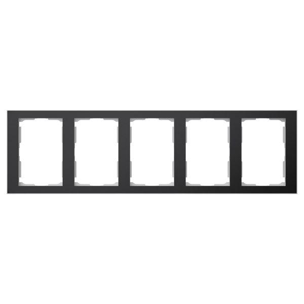 Elko EKO06347 Kombinasjonsramme svart/aluminium, 1½-roms 5 x 1½ rom