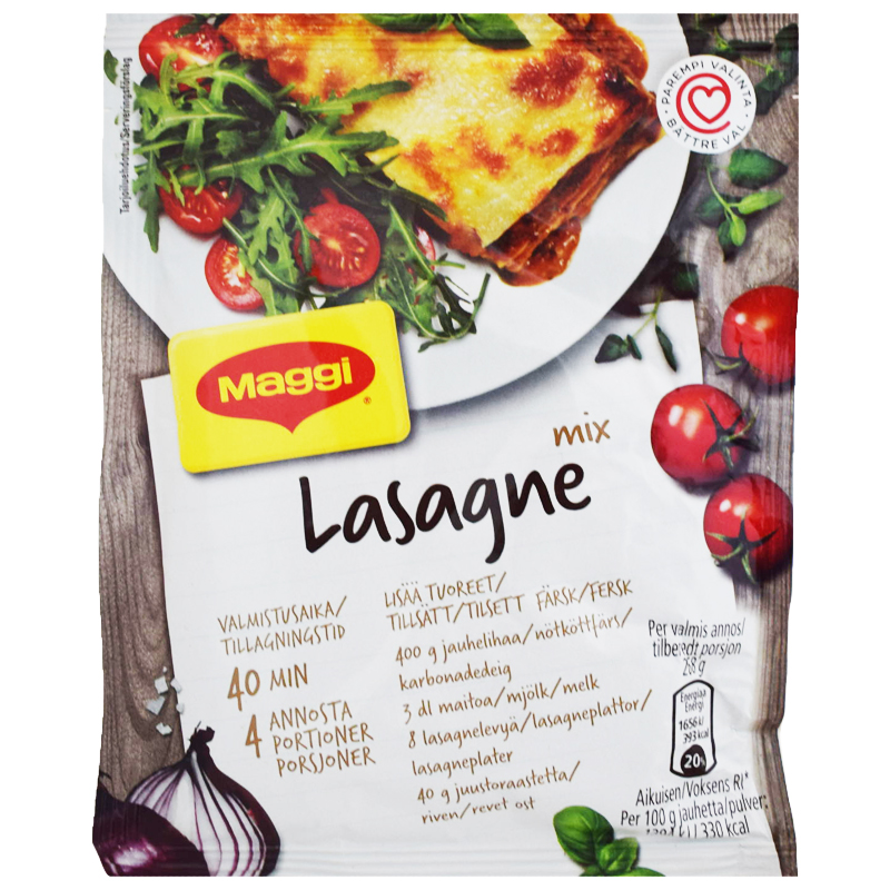 Lasagne Ateria-ainekset - 23% alennus