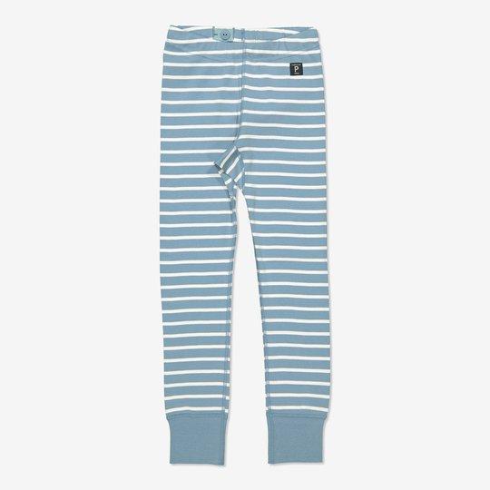 Stripet bukse blå