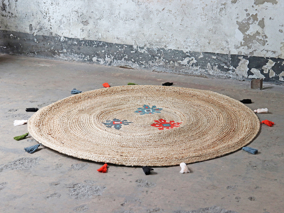 Large Round Jute Rug 150cm