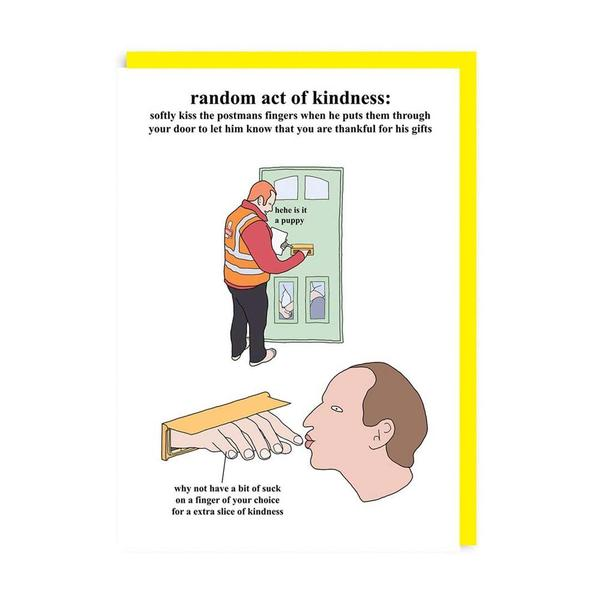 Random Acts of Kindness Kissing Fingers Greeting Card