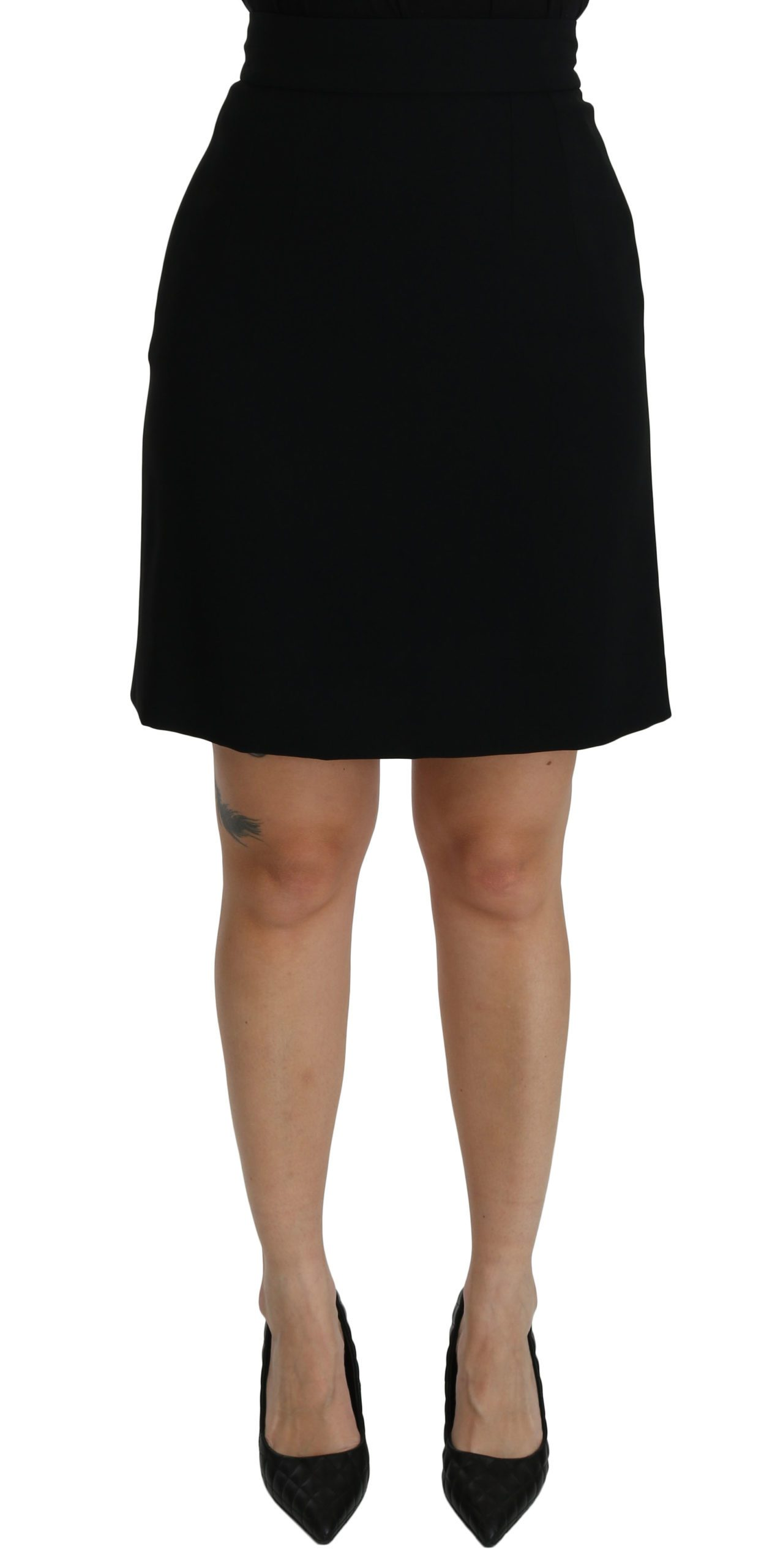 Dolce & Gabbana Women's Mermaid High Waist Midi Skirt Black SKI1388 - IT40 S
