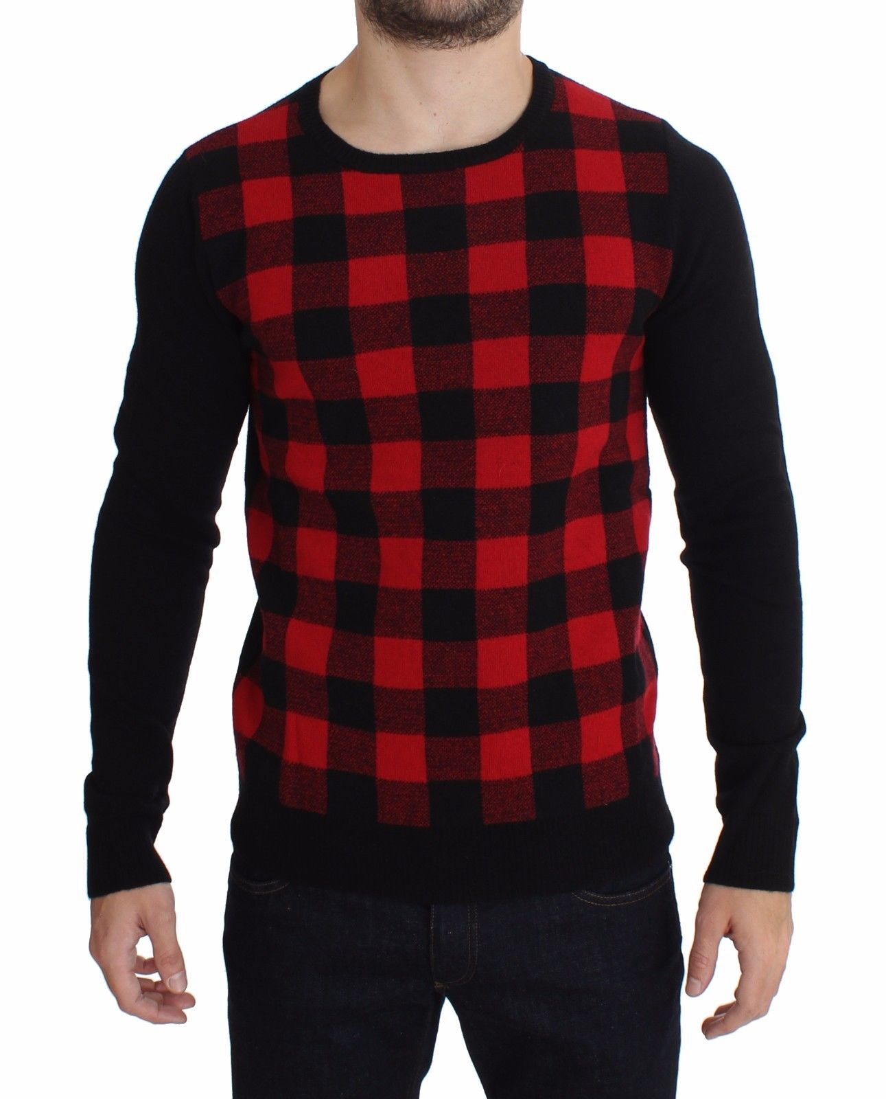 Costume National Men's Wool Crewneck Sweater Red SIG17794 - IT54 | XXL