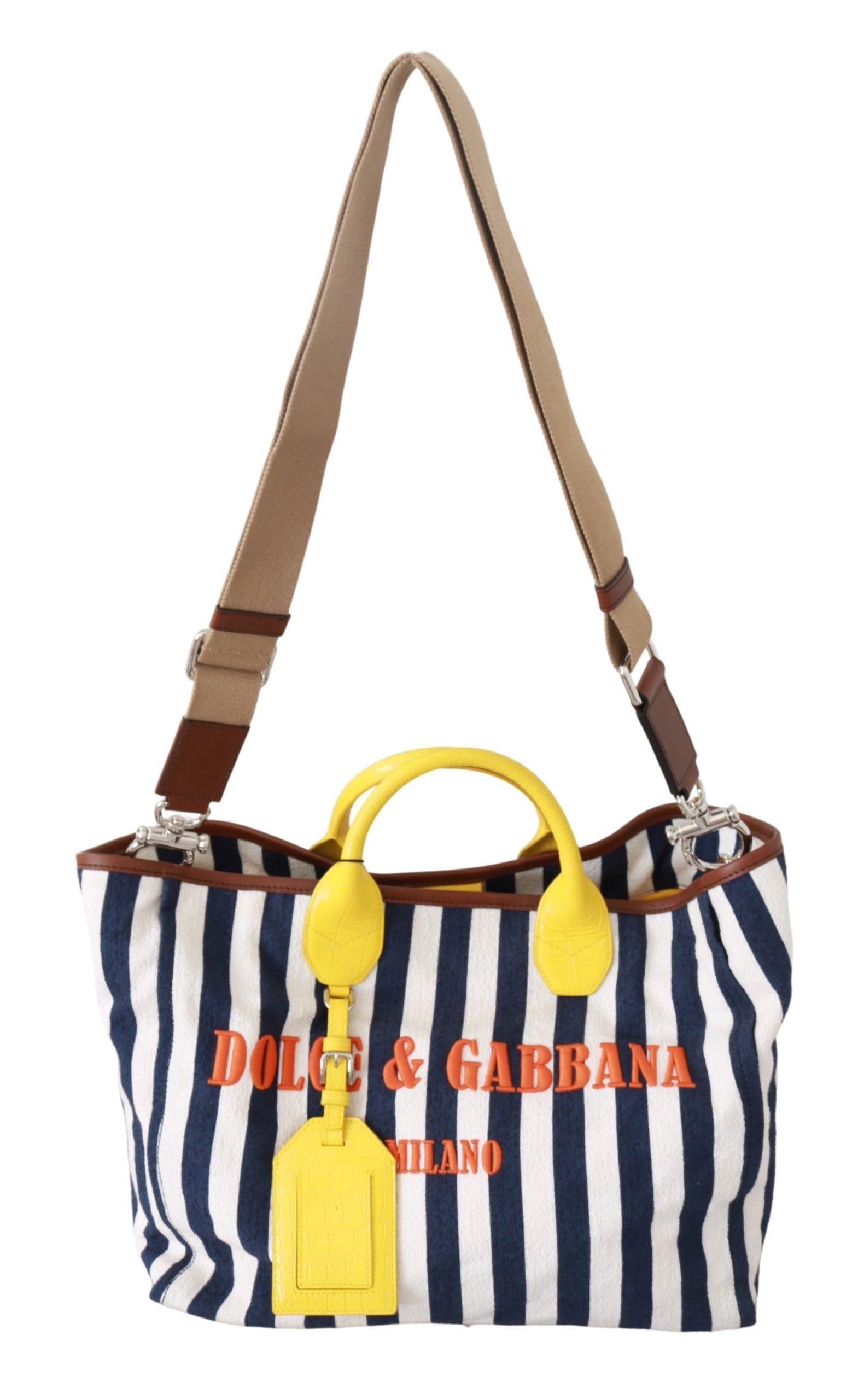 Dolce & Gabbana Women's Striped Shopping Tote Bag Multicolor VAS9253