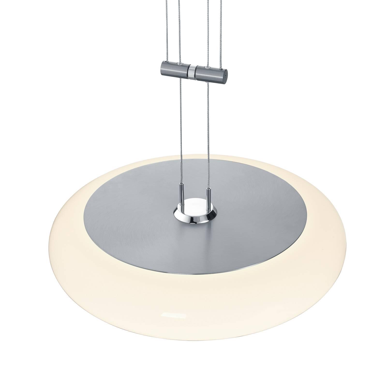 BANKAMP Centa riippuvalaisin 1-lamp 34 cm nikkeli