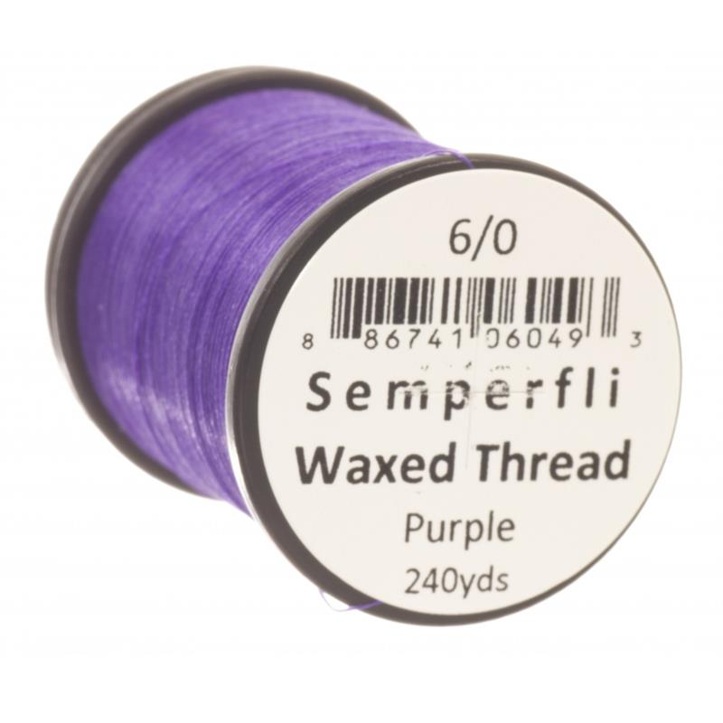 Semperfli Classic Waxed Thread Purple 6/0