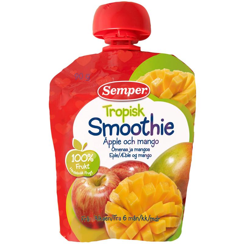Barnmat Tropisk Smoothie Äpple & Mango - 5% rabatt