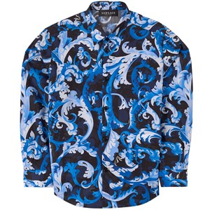 Versace Baroccoflage Print Skjorta Blå 6 år