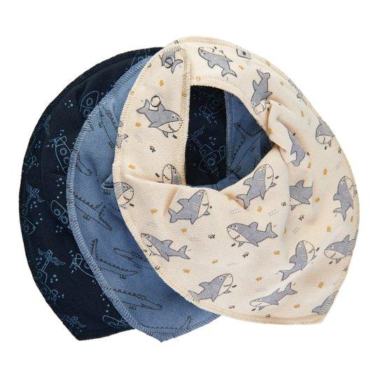 Pippi Skjerf 3-Pack, Dark Blue, OneSize