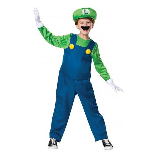 Luigi Deluxe Barn Maskeraddräkt - Large