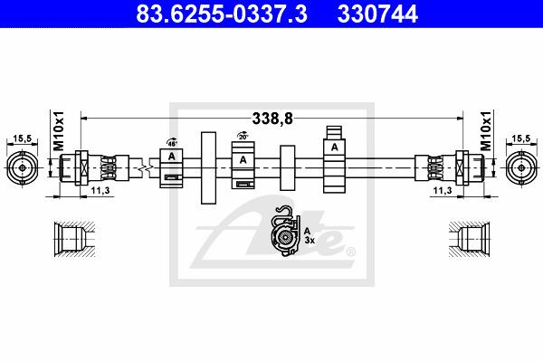 Jarruletku ATE 83.6255-0337.3