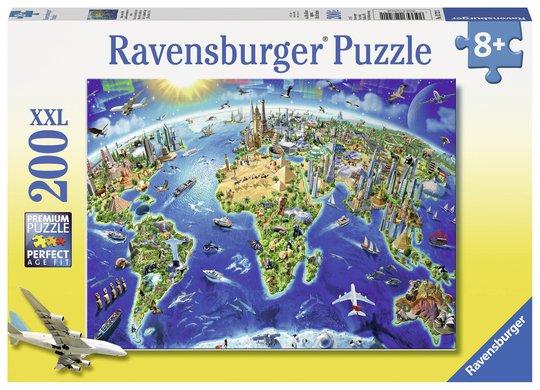 Ravensburger Puslespill Verdens Landemerker 200 Biter