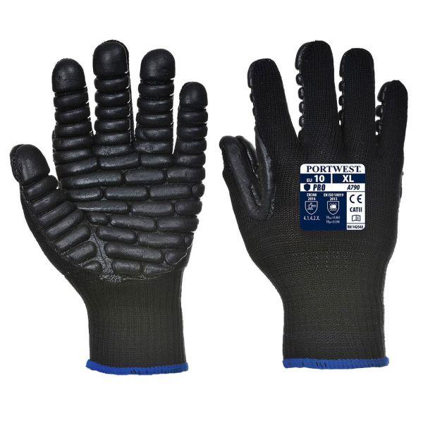 Portwest A790 Antivibrationshandske svart M